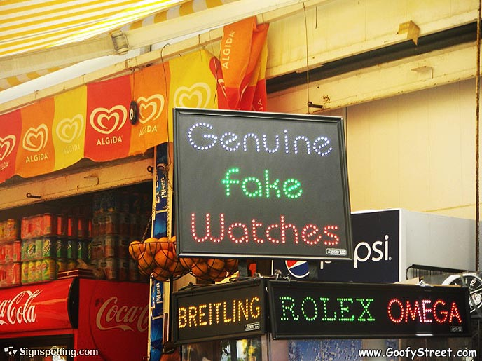 sign-real fake waatches